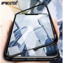Magnetický rámeček včetně ochranného skla pro Iphone 6 a 7 stříbrný