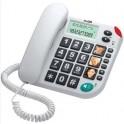 Maxcom KXT480 šnůrový telefon s velkými tlačítky vhodný pro seniory bílý