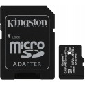 Kingston paměťová karta 16GB Canvas Select Plus microSDHC 100R A1 C10 Card + ADP