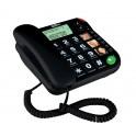 Maxcom KXT480 černý šnůrový telefon s velkými tlačítky vhodný pro seniory černý