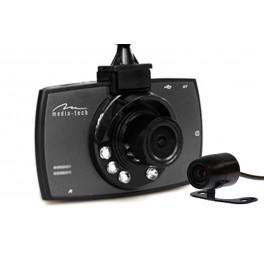U-Drive DUAL MT4056 - systém dvou kamer (DVR), full HD, 1080p,6x IR dioda, 3 palcový LCD, funkce couvání