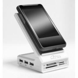 MOBILE COMBO MT5029 stojánek na mob. telefon - čtečka 80v1 + 3x USB 2.0 hub